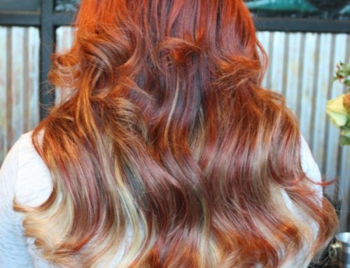 Red/blonde ombre