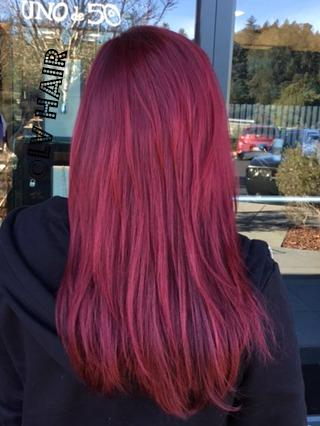 red hair color LV Hair Scotts Valley