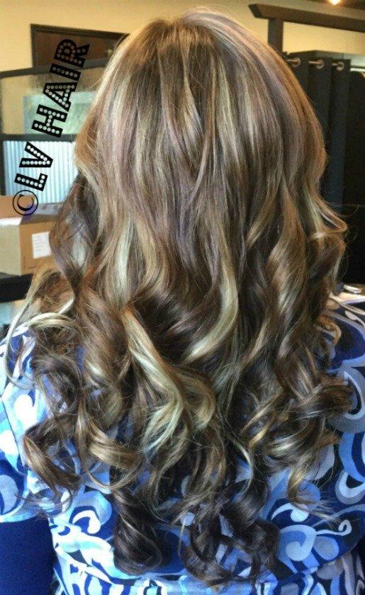 hair extensions salon scotts valley LV Hair brunette