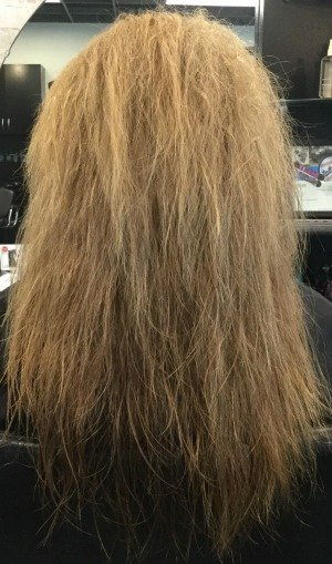keratin smoothing before LV Hair Scotts Valley