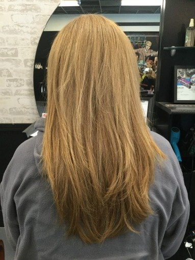 keratin smoothing after LV Hair Scotts Valley