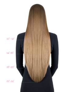 hair extensions length chart