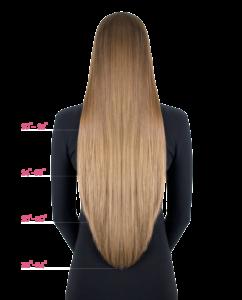 hair extensions length chart