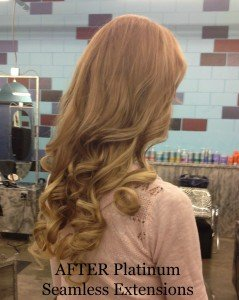 platinum seamless human hair extensions after