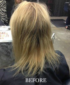 platinum seamless human hair extensions before