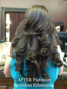 Platinum Seamless Human Hair Extensions dark after