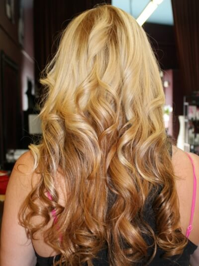 Blonde Ombre Extensions