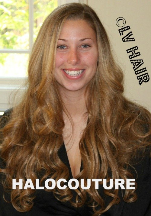 HALOCOUTURE hair extensions for brides