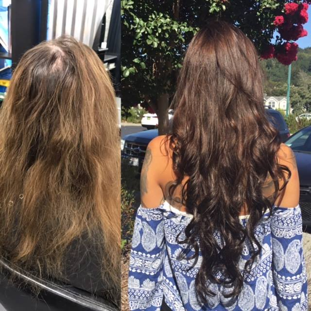 24 Inch Hair Extensions and Haircolor