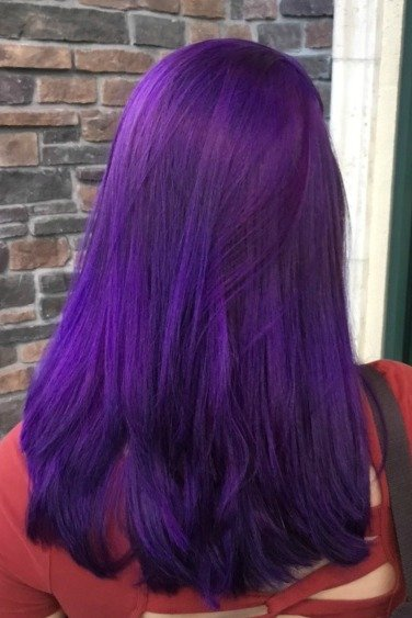 purple haircolor santa cruz