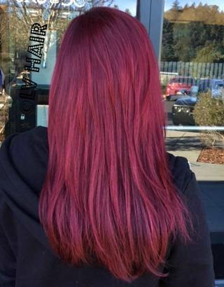 Bold Red Haircolor