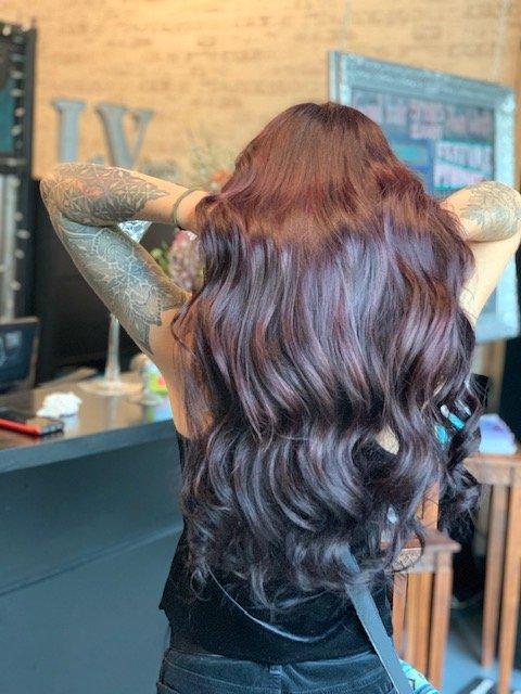 long dark hair extensions Santa Cruz CA